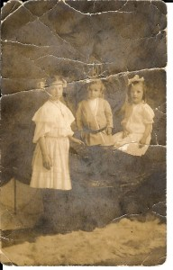 Children of Newton Whitener and Sophia (Whitener) Whitener - (from left) Hazel Whitener, John Whitener, Birdie Caroline Whitener, 1907