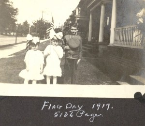 From left: Vi Helbling, May Helbling, and Edgar Helbling, in front of their home at 5136 Page in St. Louis, Missouri.