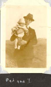 Dr. Edward A. McMurray, Sr. with his son, about 1924.