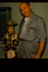 Irving I. Cooper and his first grandchild, Feb. 1962