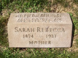 Sarah Rebecca GREEN GOLOMB- Headstone, B'nai Israel Cemetery, Pittsburgh PA. With kind permission of FAG photographer.