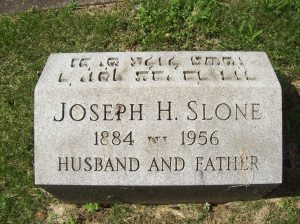 Joseph H. SLONE- Headstone, Bnai Israel Cemetery, Pittsburgh PA. With kind permission of FAG photographer.