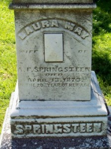Laura May (Longfellow) Springsteen- Headstone, Crown Hill Cemetery, Indianapolis, Indiana
