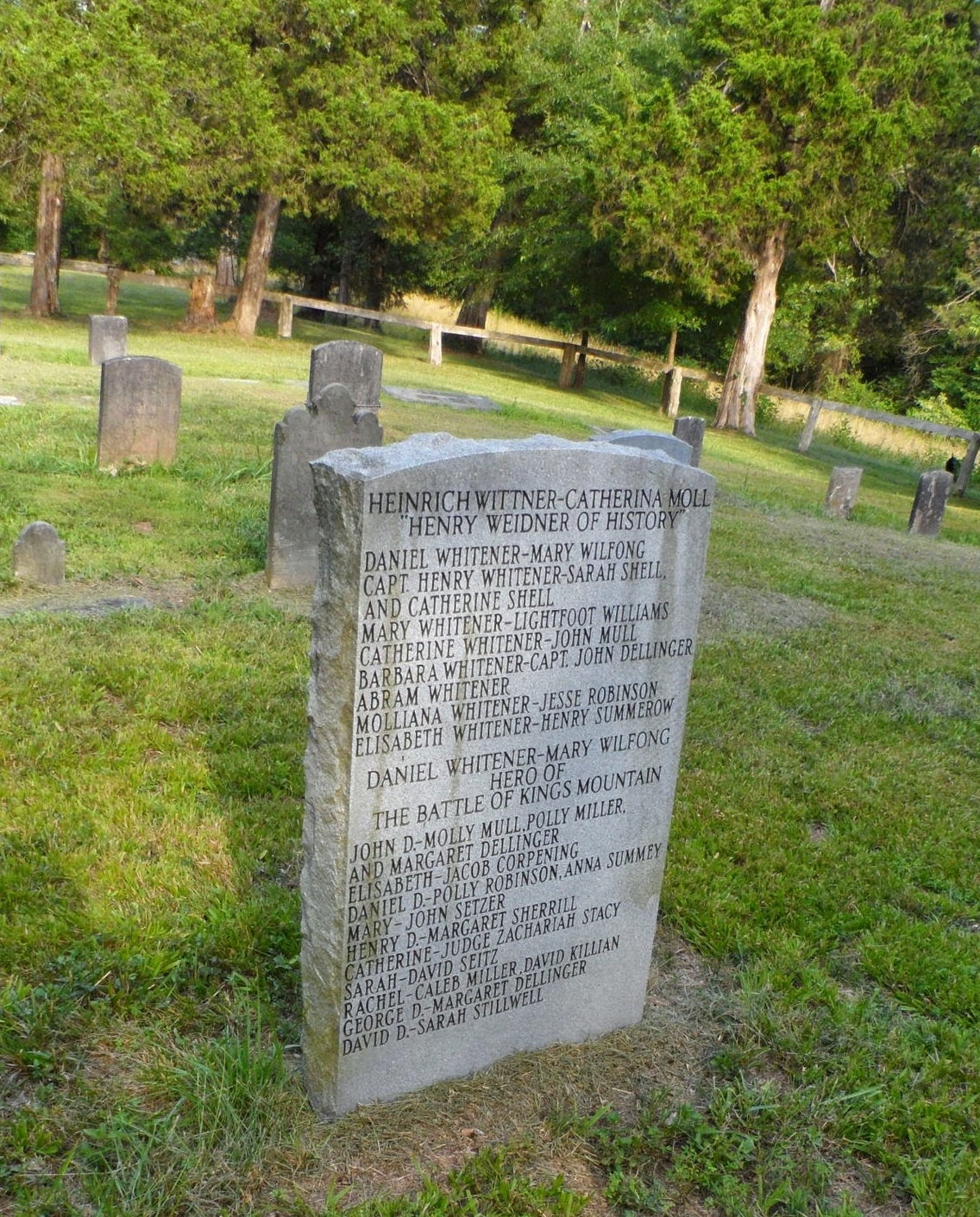 Tombstone Tuesday: Henrich Weidner and Catharina Mull Weidner in