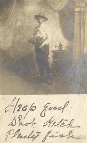 """Heap good shot. Ketch plenty fish."" Probably William Hanford Aiken."