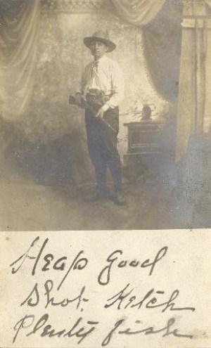 """Heap good shot. Ketch plenty fish."" Probably William Hanford Aiken."