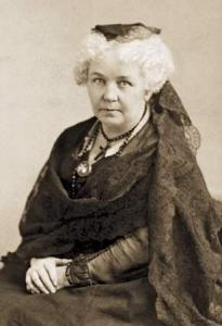 Elizabeth Cady Stanton, c1880. Wikipedia, public domain.