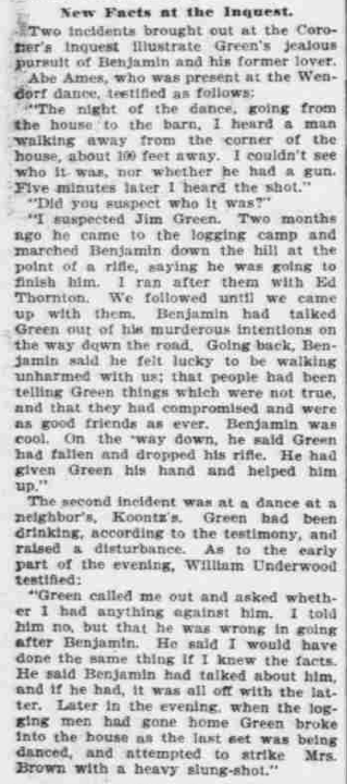 """Points to Green,"" The Morning Oregonian,(Portland, Oregon) March 26, 1901, Volume 41, Number 12,569, Page 4, Columns 1-3, Part 3. Public Domain."