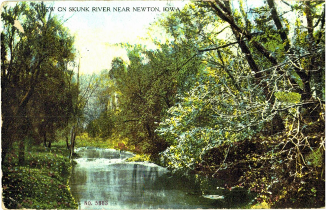 View on Skunk River near Newton, Jasper County, Iowa.