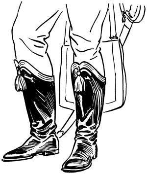 Hessian boots. Wikimedia, public domain.