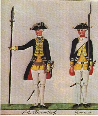Hessian Jagers at the Battle of Groton. Wikipedia, public domain.
