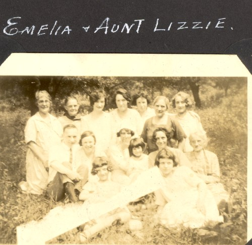 Emelia and Aunt Lizzie, possibly Peoria, Illinois.