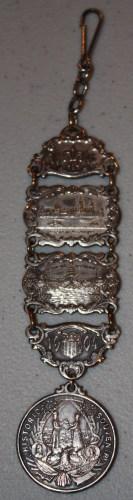 Souvenir of 1904 St. Louis World's Fair-Watch Fob-reverse.