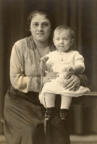 Rose ___ Broida and daughter Sylvia Broida, about 1917-1918.