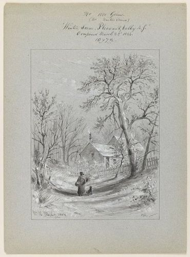 Winter in New York- similar to that in Massachusetts. William Rickarby Miller [No restrictions or Public domain], via Wikimedia Commons