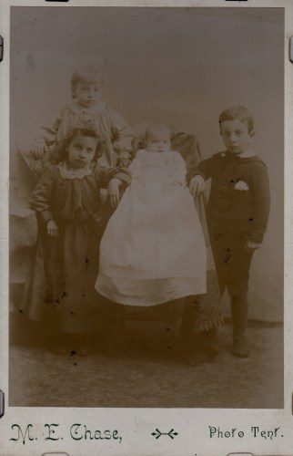 "The Pritchard Children, from the collection of Frances ""Fannie"" Isabella (Brown). Edited to provide more contrast. (Click to enlarge.)"