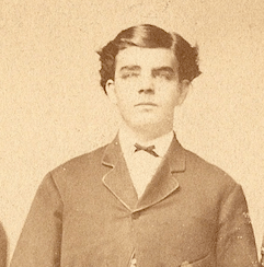 Thomas Jefferson Springsteen (or Charles Springsteen) of Indianapolis, Indiana, c1863? Cropped from family portrait.