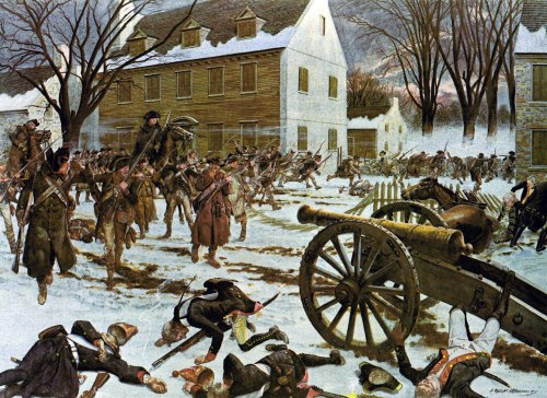 Battle of Trenton by Charles McBarron, via Wikimedia; public domain.