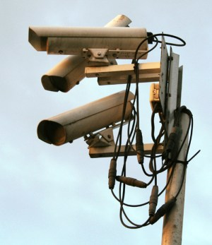 Surveillance camers via Wikipedia.org, CC BY-SA 3.0 license.