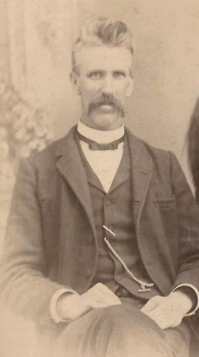 John W. ROberts, about 1891, cropped from a family photo; from a William Roberts Family Photo Album.