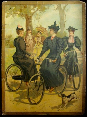 Women on bicycles- possibly c1900. Unknown source.