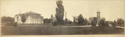 Purdue University, circa 1904, via Wikimedia Commons, also available from Library of Congress. Public domain.