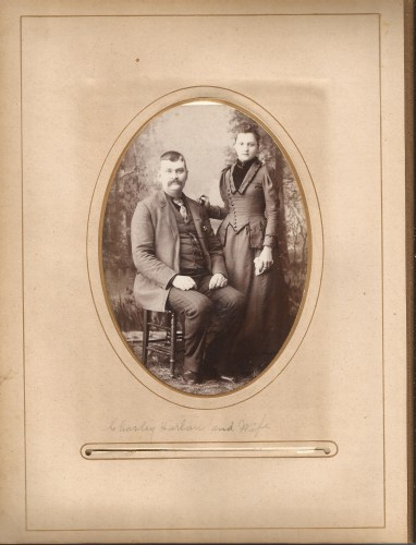 Charley Harlan and Wife, from the Lloyd Roberts Family Photo Collection.