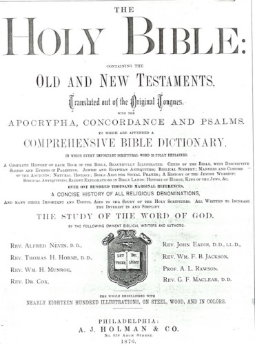 The Springsteen Family Bible, printed in 1876.
