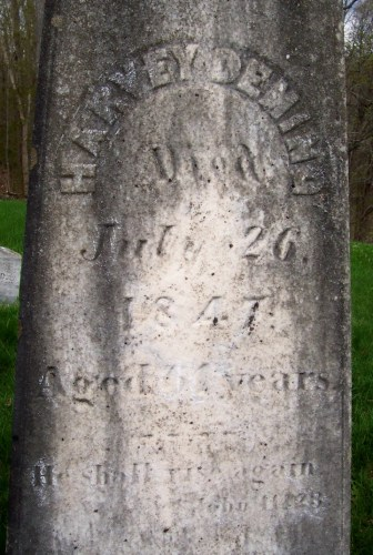 Harvey Deming headstone, Salisbury Village Cemetery, Salisbury, Addison Co., Vermont. Used with kind permission of the FAG photographer, Alan Lathrop.