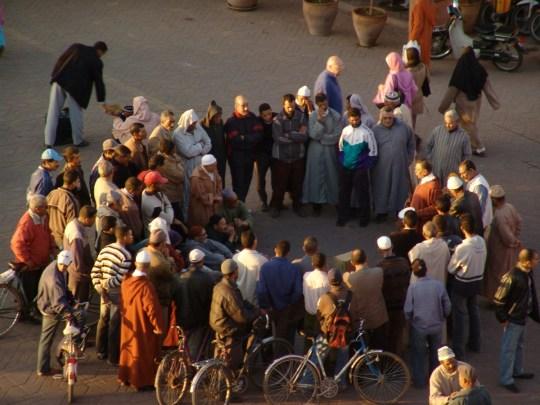 Abb. 6.13_Vortrag auf dem Jemaa El Fna Platz