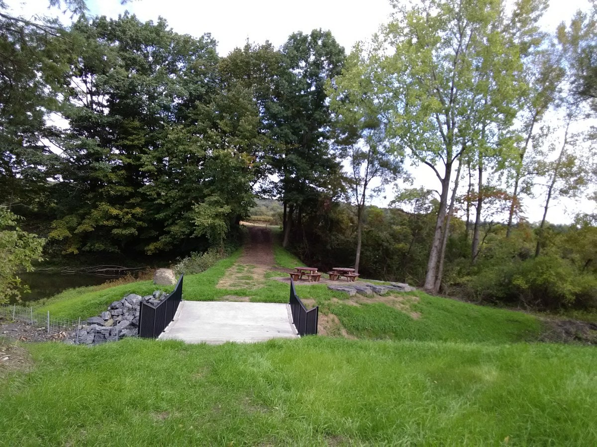 Herkimer Community College's new flood controlled picnic area