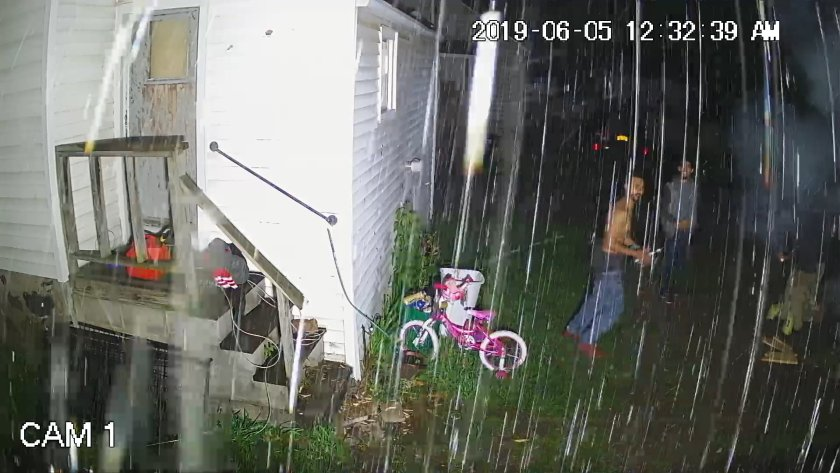 Herkimer gang member showers security camera