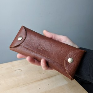 leather accessory case repurposed leather