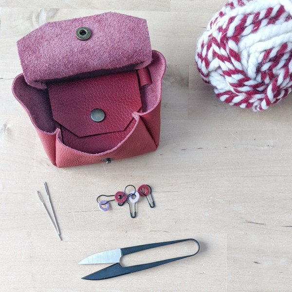 Mini Notion Pouch Open Red