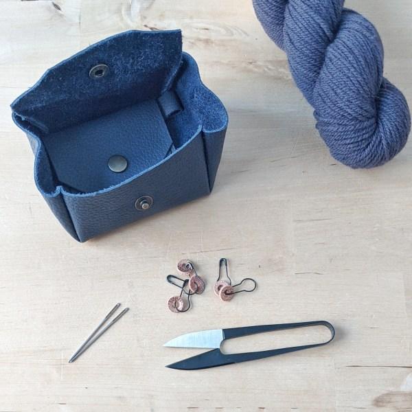 Mini Notion Pouch Open Sapphire