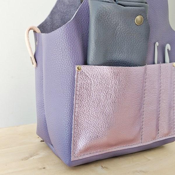 Beatrice Project Bag Pocket Detail Violet
