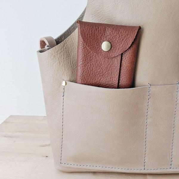 Beatrice Project Bag Pocket View Burlap