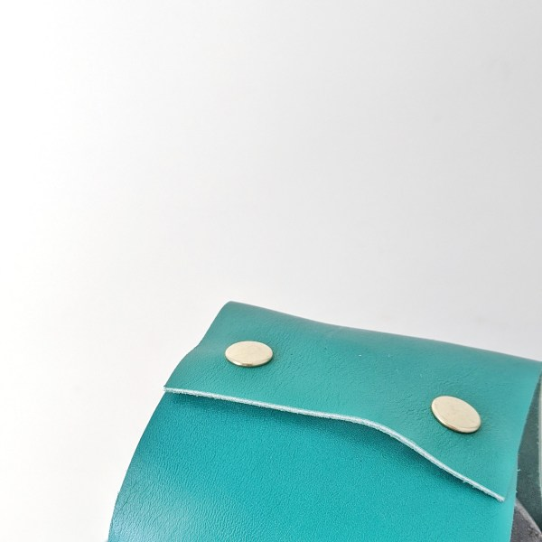 Beatrice Project Bag Snaps Handles Up Emerald