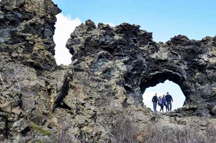 Dimmuborgir hike in North Iceland