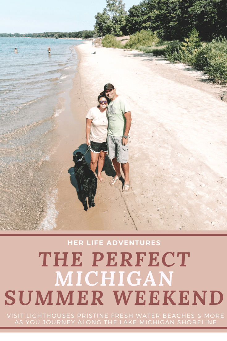 THE PERFECT WEEKEND GETAWAY ALONG MICHIGAN'S WEST COAST   Explore crystal clear fresh water beaches, historic lighthouses, sand dunes, & other things to do in Michigan along the West Coast. #michigan #traveldestinations #wheretogo #whattodo #lakemichigan #michiganbeaches #roadtrip #michigantravel