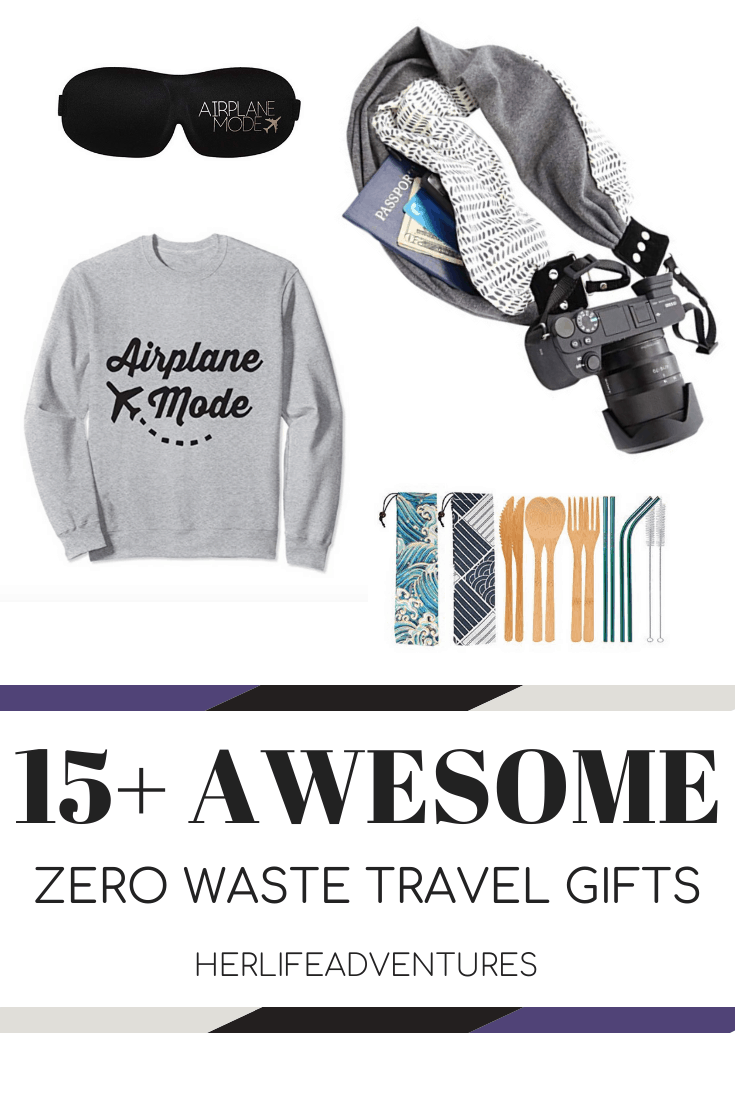 15+ Unique Eco Friendly Gifts for Travelers. The best list of unique zero waste gifts for both experienced travelers and beginners. All will enjoy these amazing travel products and gift ideas. | Her Life Adventures | #travelgifts #travelgiftideas #forwomen #formen #whattoget #giftsfortravel #ecofriendlyproducts #ecofriendlygifts #holidaygifts #fortravel #ecofriendly #giftguide #travelgiftideas