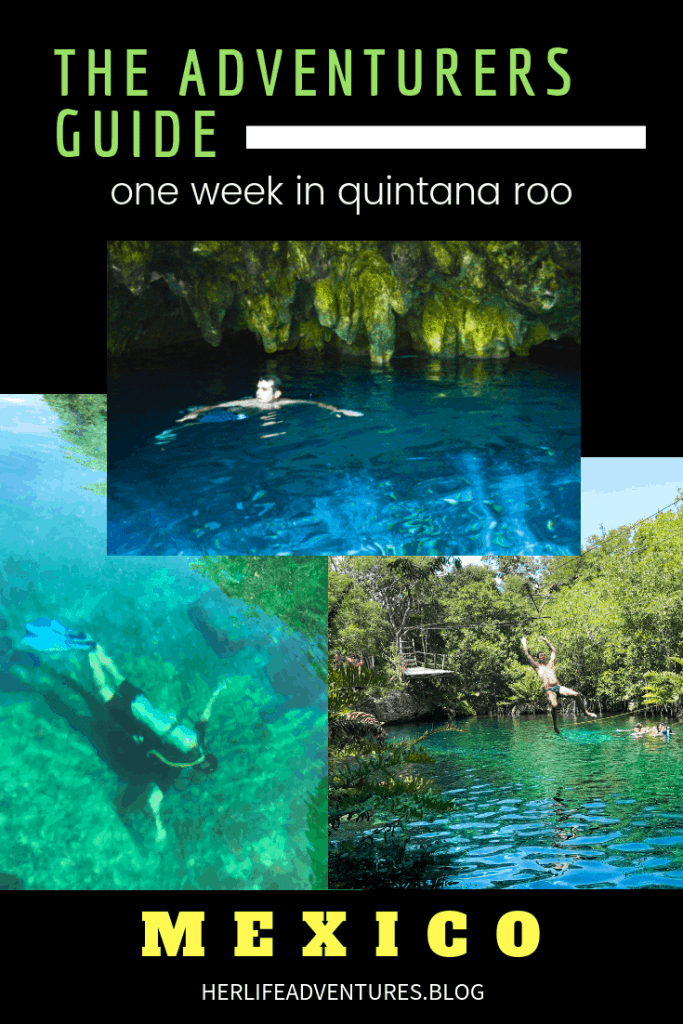 The Adventurers Guide to 1 Week in Tulum. Scuba diving, snorkeling, kayaking and more! Quintana Roo Mexico | herlifeadventures.blog | #mexico #mexicotravel #mexicopacking #wheretostay #hiddengem #mexicovacation #travelhacks #travelguide #adventuretravel #traveltips #northamerica #traveldestinations #travelexperience #bestbeach #cenote #beautifulplaces #adventure #explore