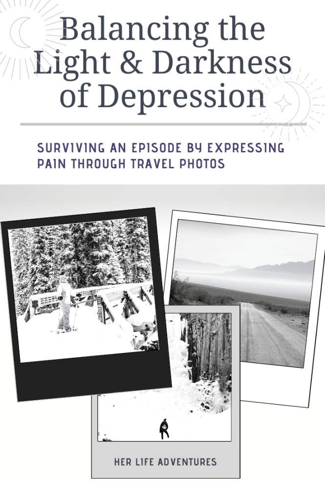 Depression is a serious mental health illness that involves a low mood and a extreme loss of interest in activities. Learn how to cope during a depressive episode through creativity and uplifting travel inspiration. It's time to end the stigma of mental illnesses. Finding the balance between light & dark.