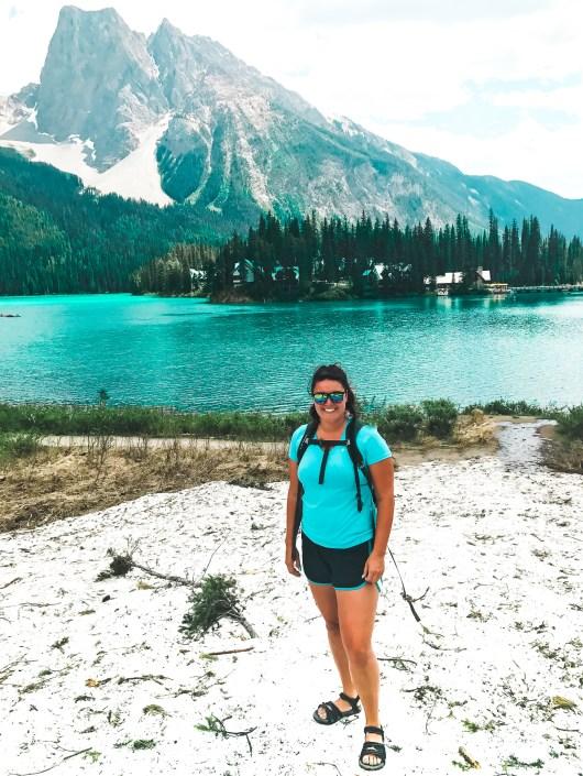 Yoho national park emerald lake, British Colombia Canada and more incredible photos to inspire your Canada National Park Adventure. Covering Jasper + Banff + Yoho | HerLifeAdventures.Blog | #traveldestinations #travelideas #northamericatravel #traveltips  #travelhacks #travelguide #adventuretravel #roadtrip #nationalpark #nationalparkroadtrip #alberta #canada #britishcolombia