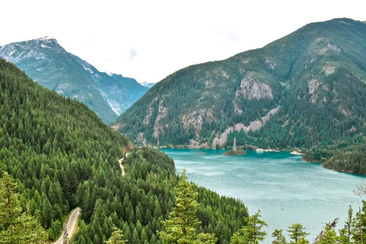 Diablo Lake hiking trail overlook North Cascades National Park