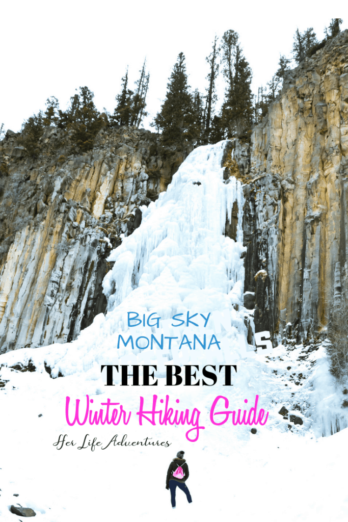 Ousel Falls Hike to frozen waterfalls, snowshoe up a mountain, or take a sleigh ride. Big Sky Montana has something for everyone in this winter adventure guide!