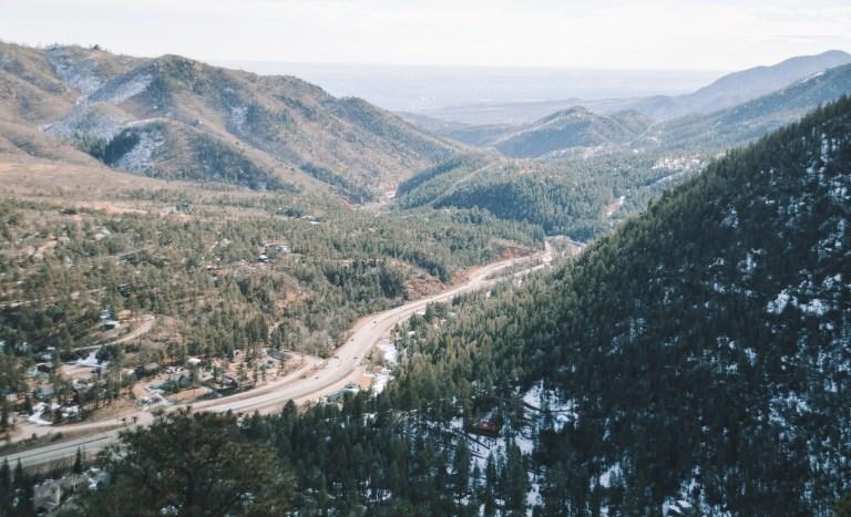 Pikes Peak road in Colorado Springs