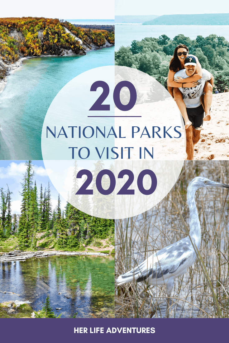 These 20 National Parks are a must visit! Get your 2020 bucket list kicked off with one of these incredible parks! #nationalparks #unitedstates #canada #bucketlist
