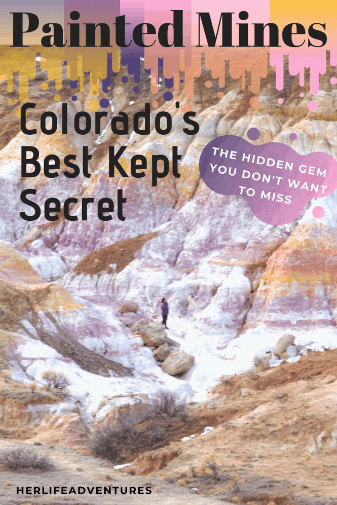 Colorado's best best kept secret is also an open space park. Waiting to be explored, this hidden gem is a local secret. You'll find rainbow colored hoo doos and spires  just outside of Colorado Springs. #rainbow #paintmines #coloradoparks #hiddengem #paintminespark
