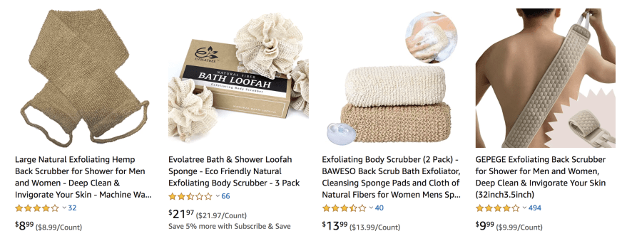 Eco friendly natural hemp body scrubbers ; zero waste ; sustainable ; good for the environment